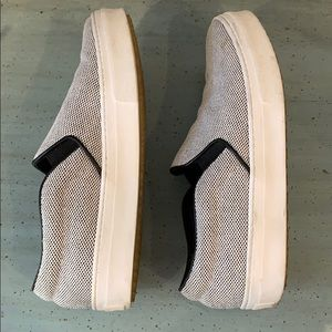 Celine Shoes - Céline Black and White Fabric Slide Sneakers